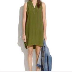 Madewell Green Tunic Dress